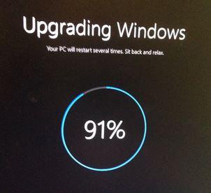 Solução: a atualização do Windows 10 travou em 91%